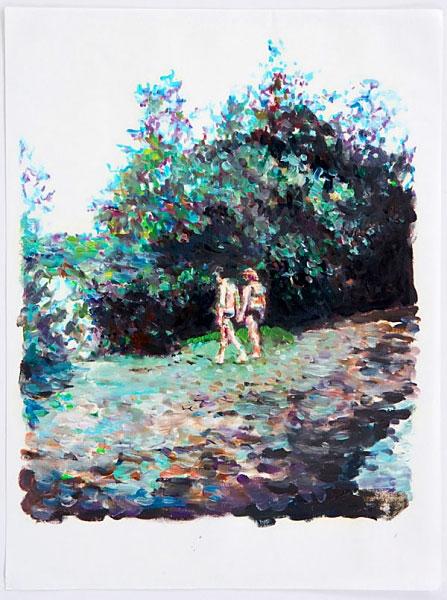 »der mensch«  öl/japanpapier   42cm x 29cm   2008