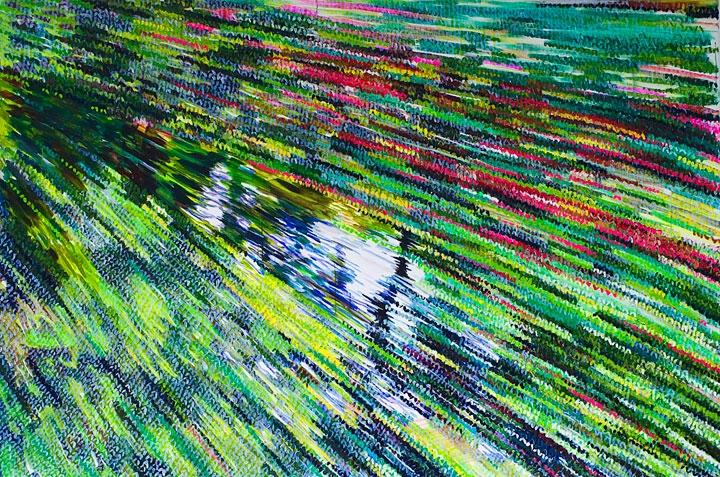 »3 jahre kongofieber« öl/leinwand 150cm 190cm 2010