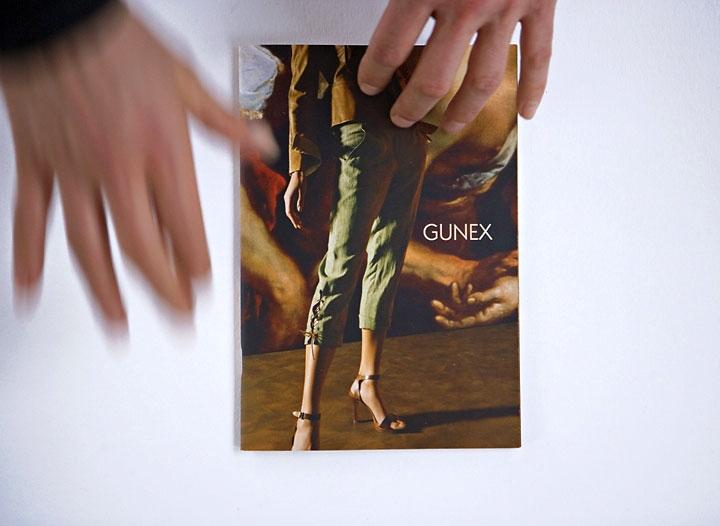gunex »wissen und wunder« Spring Summer Collection 2006  collage im werbeheftchen 21cm x 14,5cm