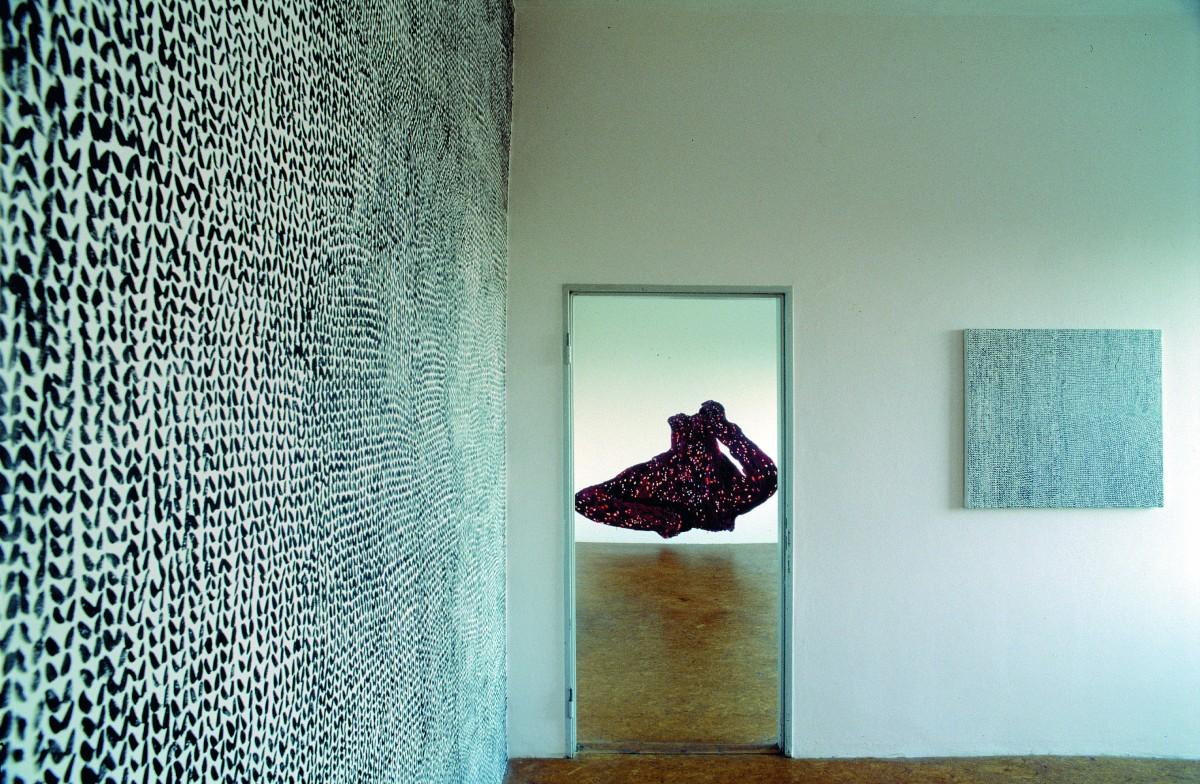 In der »galerie herold« habe ich wie im »kunstfaktor« nach der vernissage weiter gemalt und die Räume bis zur Finissage verändert.