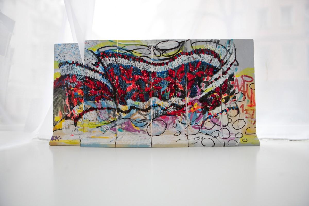 »The Wall« acryl/stift auf mauer 20cm x40cm 2012 zusammenarbeit mit Poet